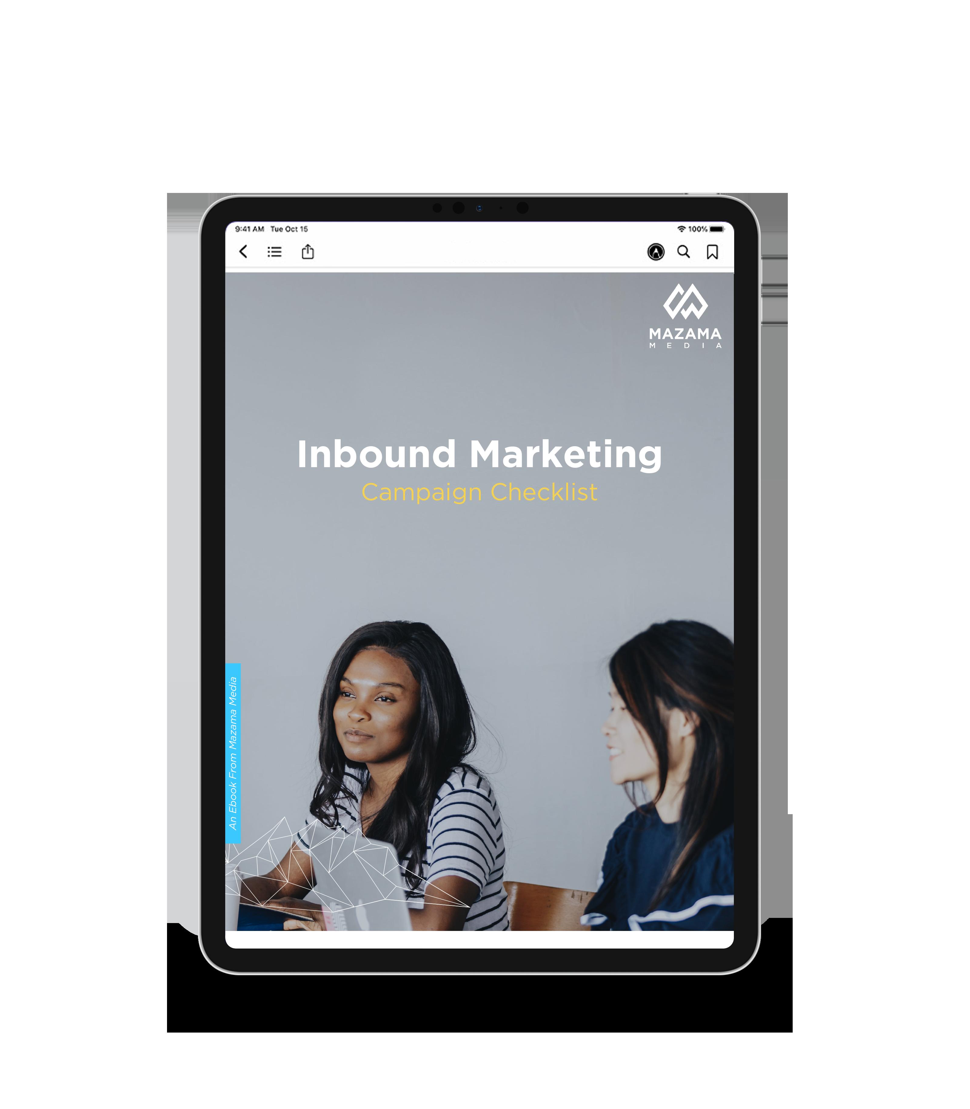 inbound checklist ebook tablet
